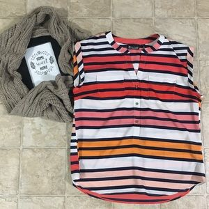 NY&CO Striped Sheer Blouse